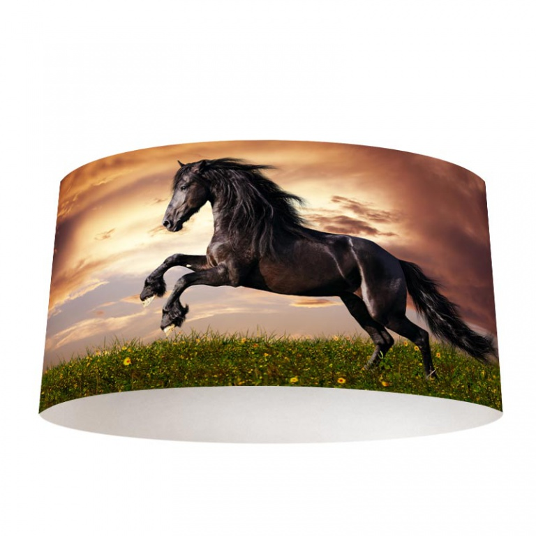 Lampenkap Fries paard in galop