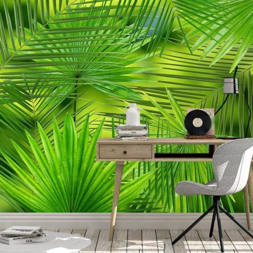 Fotobehang Grote palmbladeren