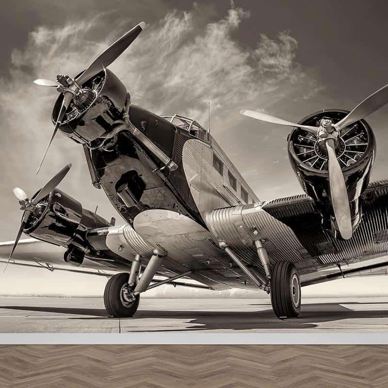 Fotobehang Vintage propeller vliegtuig
