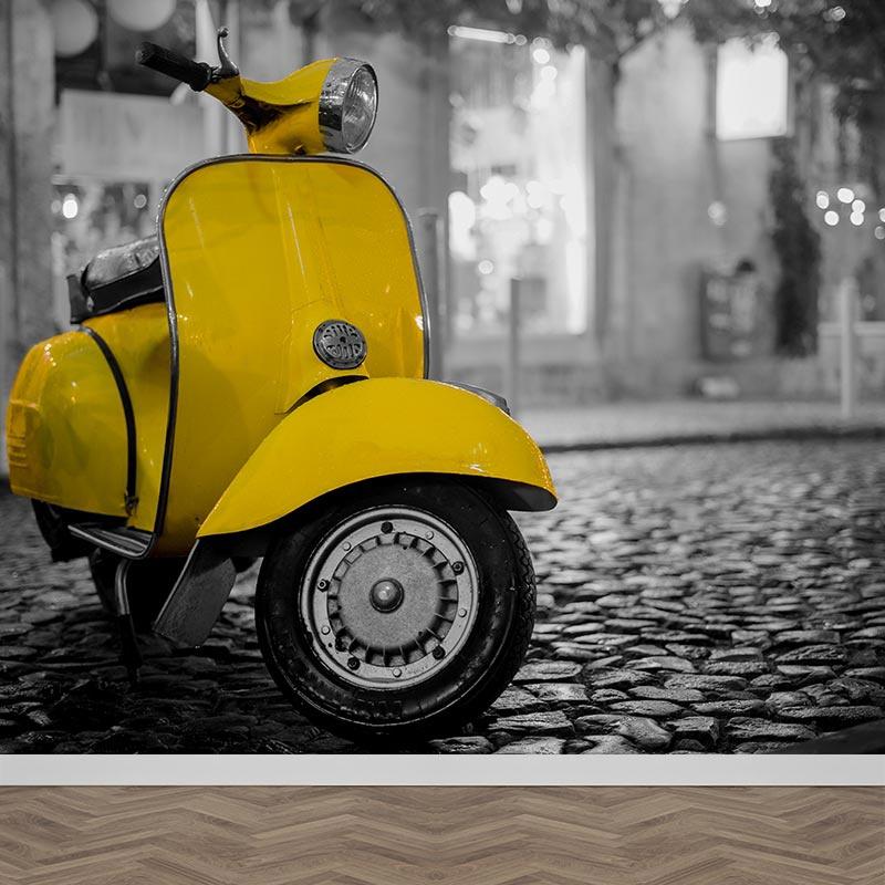 Fotobehang Vintage Vespa scooter