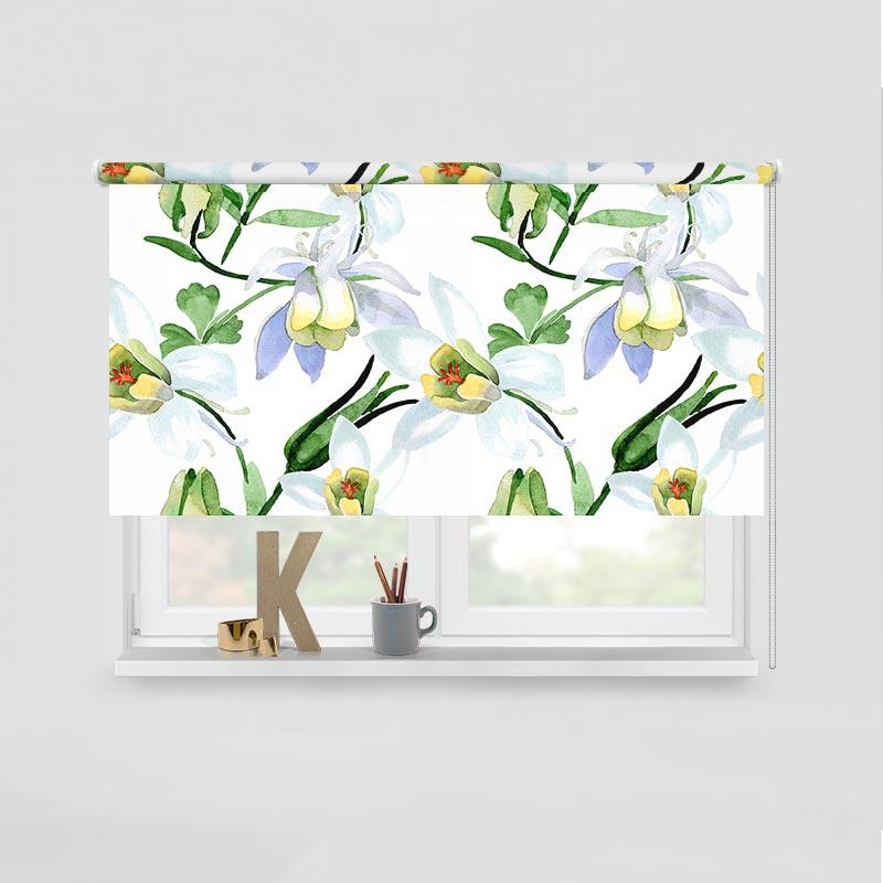 Rolgordijn Lelies in aquarel