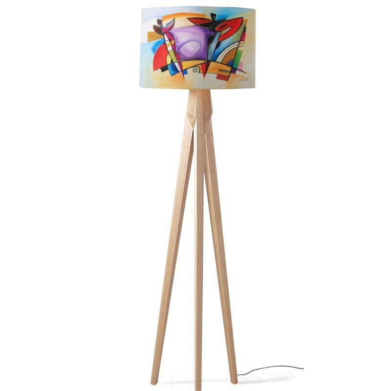 Lampenkap coloured shapes