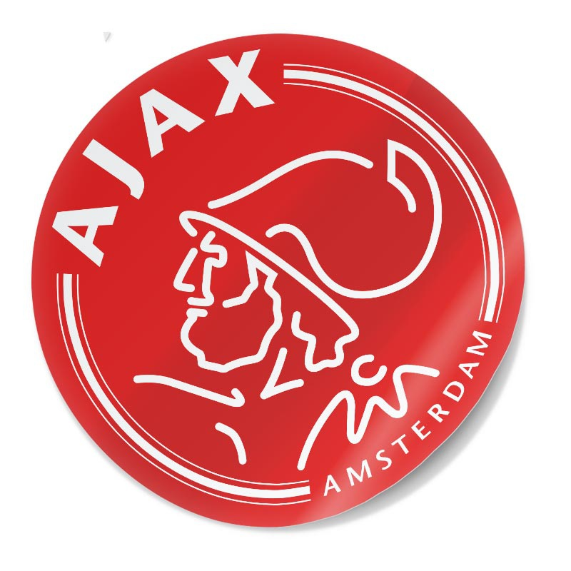 Sticker Ajax rood