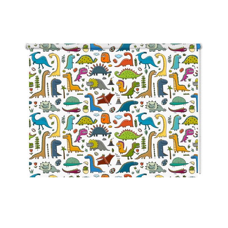 Rolgordijn Dino patroon 1