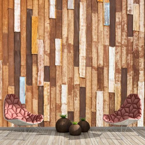 Fotobehang Houten planken I