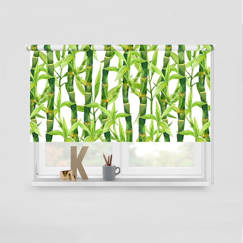 Rolgordijn Bamboe in aquarel