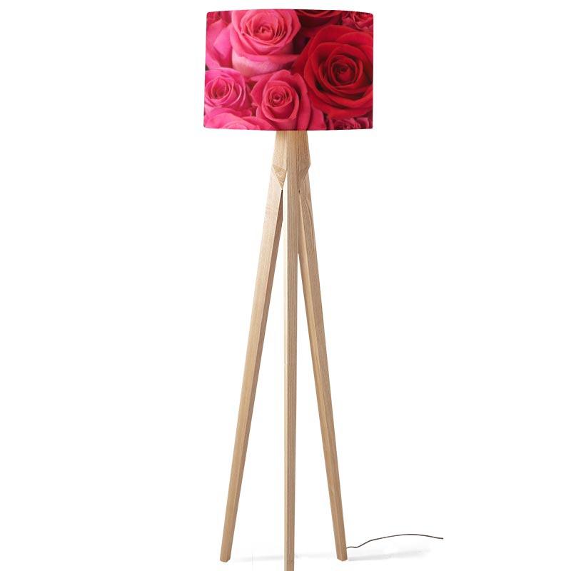 Lampenkap Roze en rode rozen