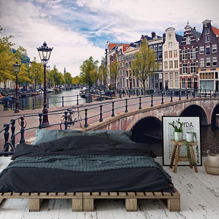 Fotobehang-Amsterdamse-grachten