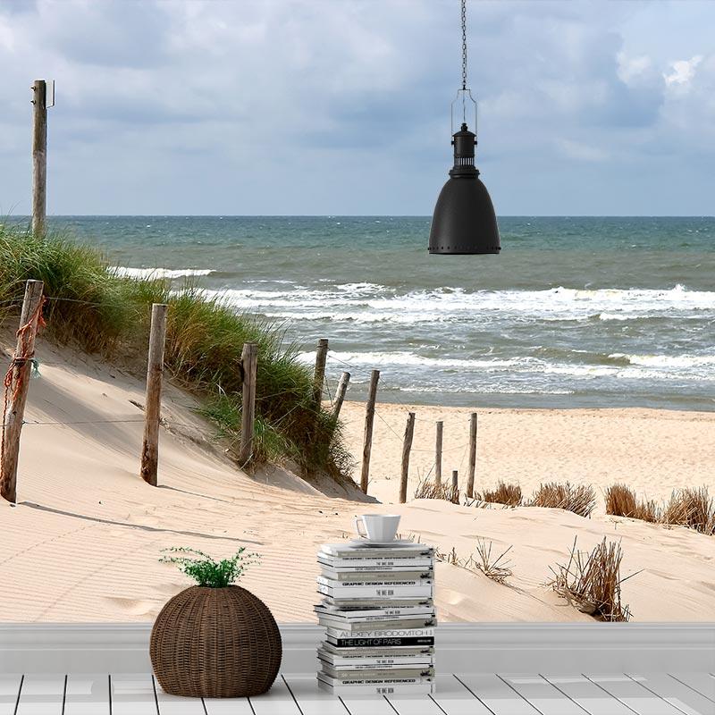 Fotobehang-Zee-strand-en-duinen
