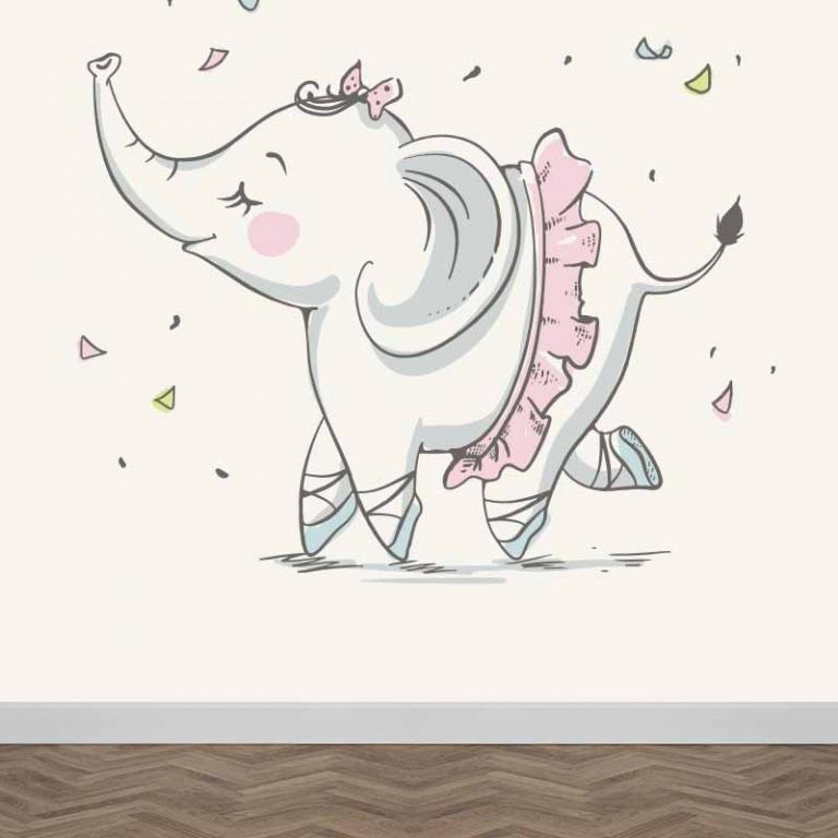Fotobehang Olifant ballerina