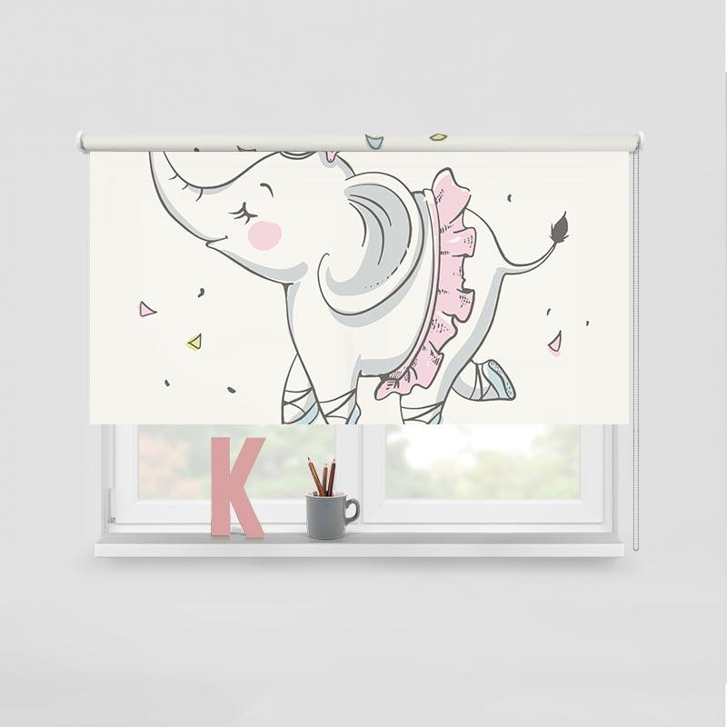 Rolgordijn Olifant Ballerina