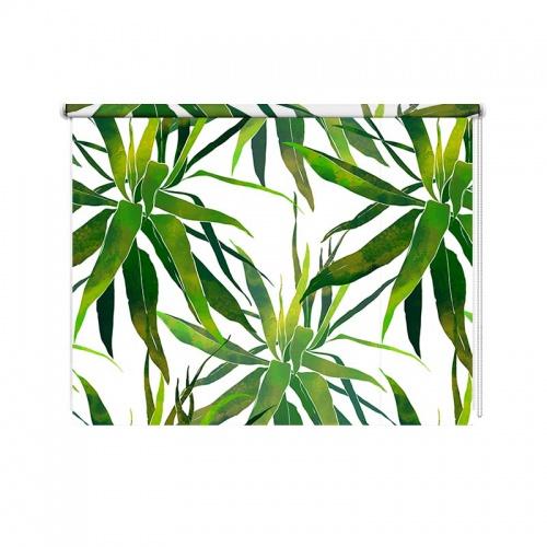 Rolgordijn Tropische bladeren patroon aquarel