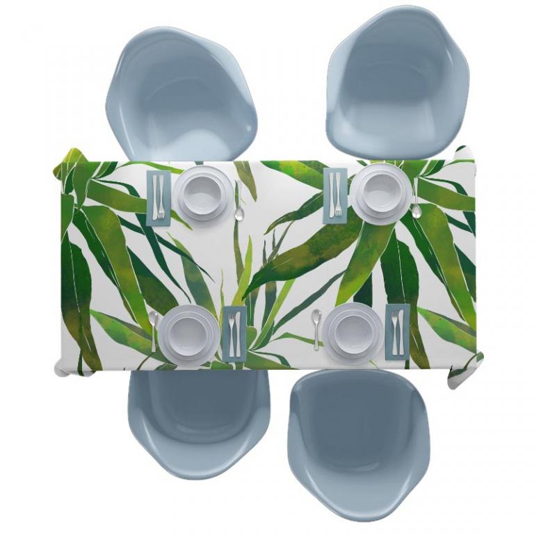 Tafelkleed Tropische bladeren patroon aquarel