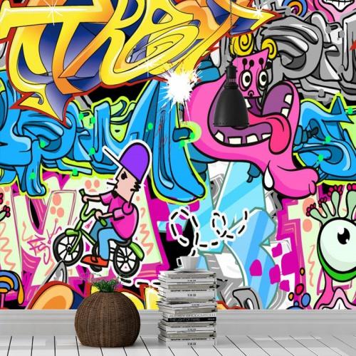 Fotobehang-Graffiti