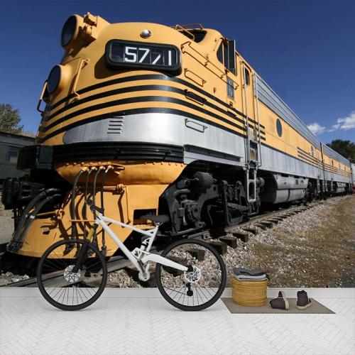 Fotobehang-amerikaanse-trein