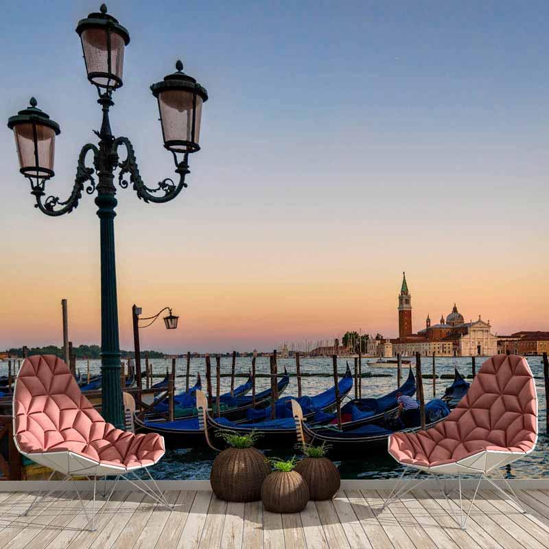 Fotobehang-Gondels-in-Venetie