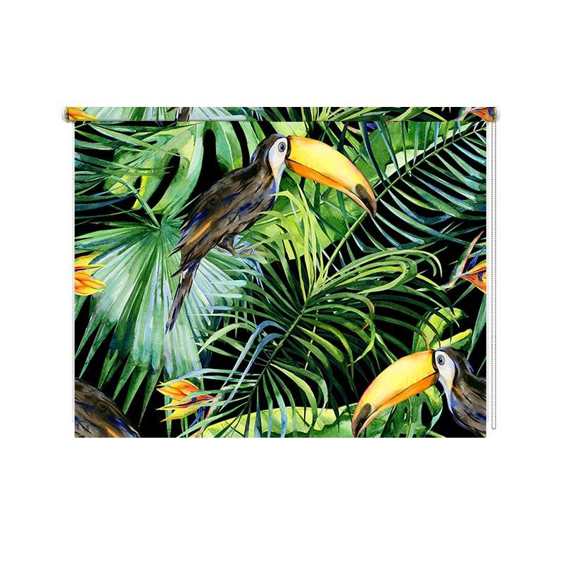 Rolgordijn Botanische jungle patroon