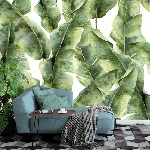 Fotobehang-Tropische-bladeren-patroon-5