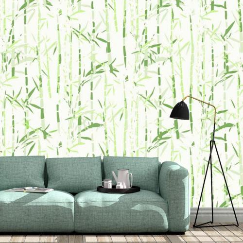 Fotobehang Bamboe-Illustratie