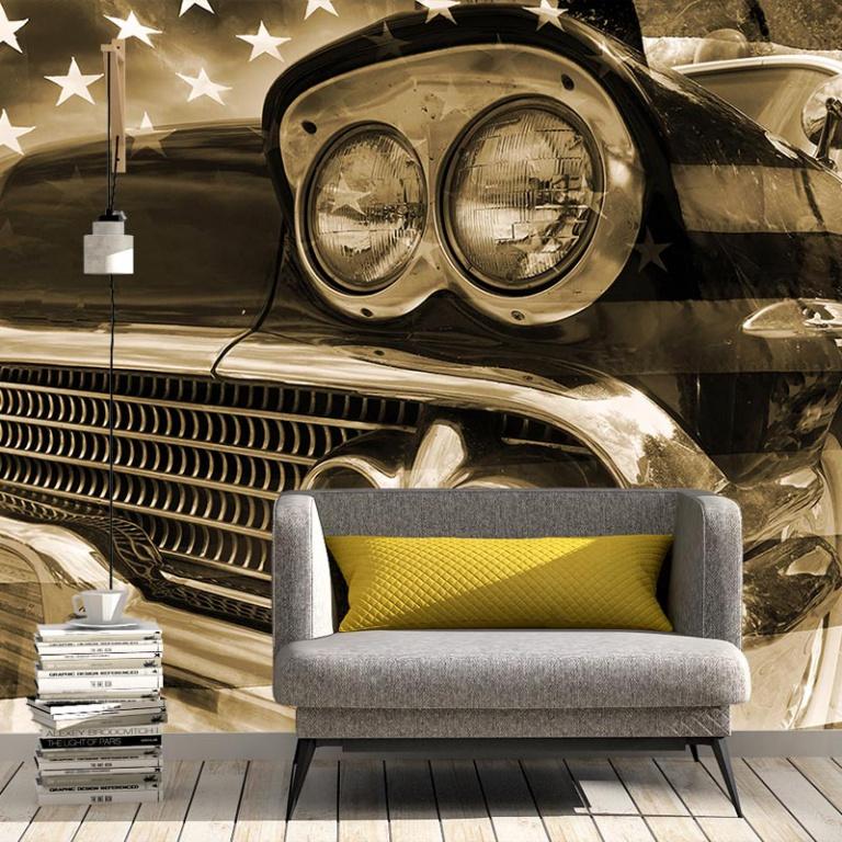 Fotobehang-Vintage-auto