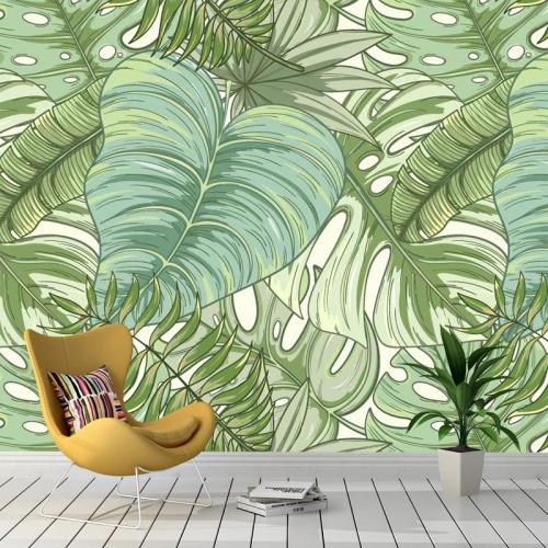Fotobehang-Tropische-bladeren-patroon-3