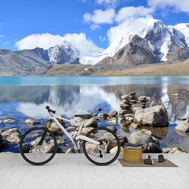 Fotobehang-Meer-in-de-bergen