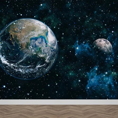 Fotobehang in het heelal