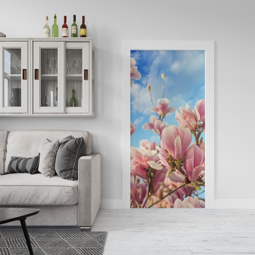 Deursticker Magnolia in bloei