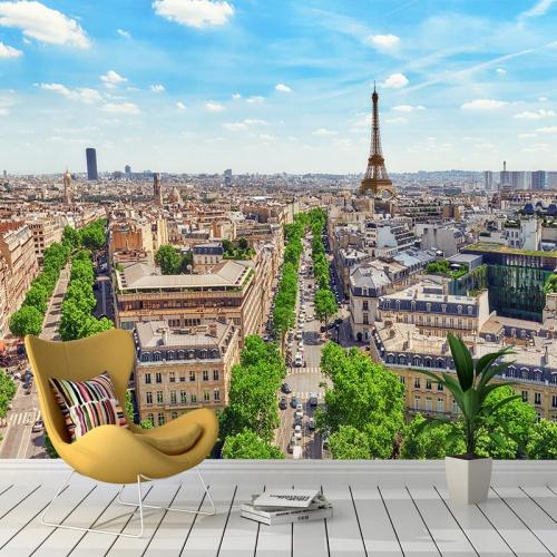Fotobehang-Parijs-skyline