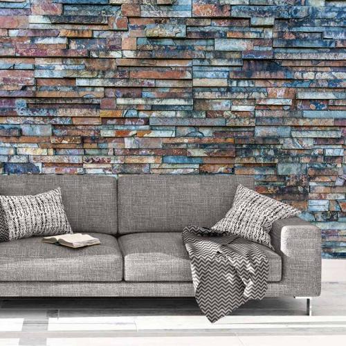 Fotobehang-Stenen-muur-patroon