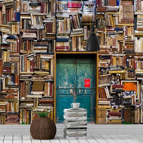 Fotobehang-In-de-bibliotheek