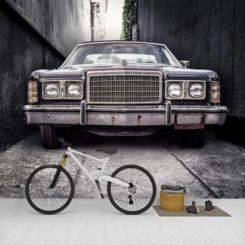 Fotobehang-Ouderwetse-auto