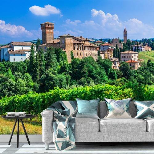 Fotobehang Italiaans plattelands dorp