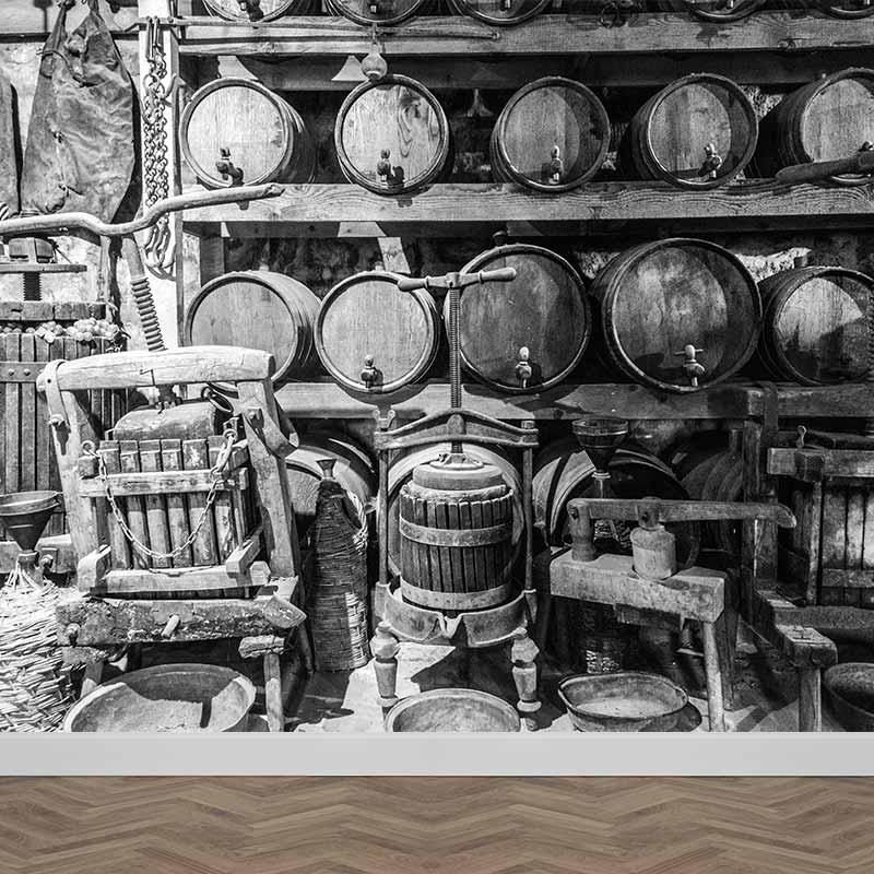 Fotobehang Klassieke wijnkelder