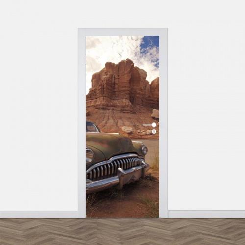Deursticker Verlaten in de woestijn
