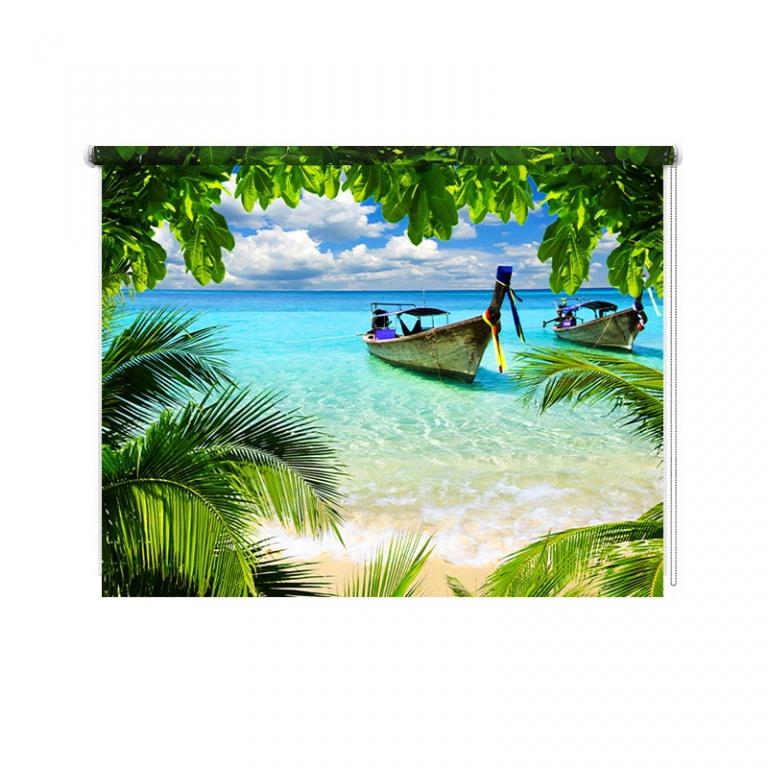 Rolgordijn Tropische baai