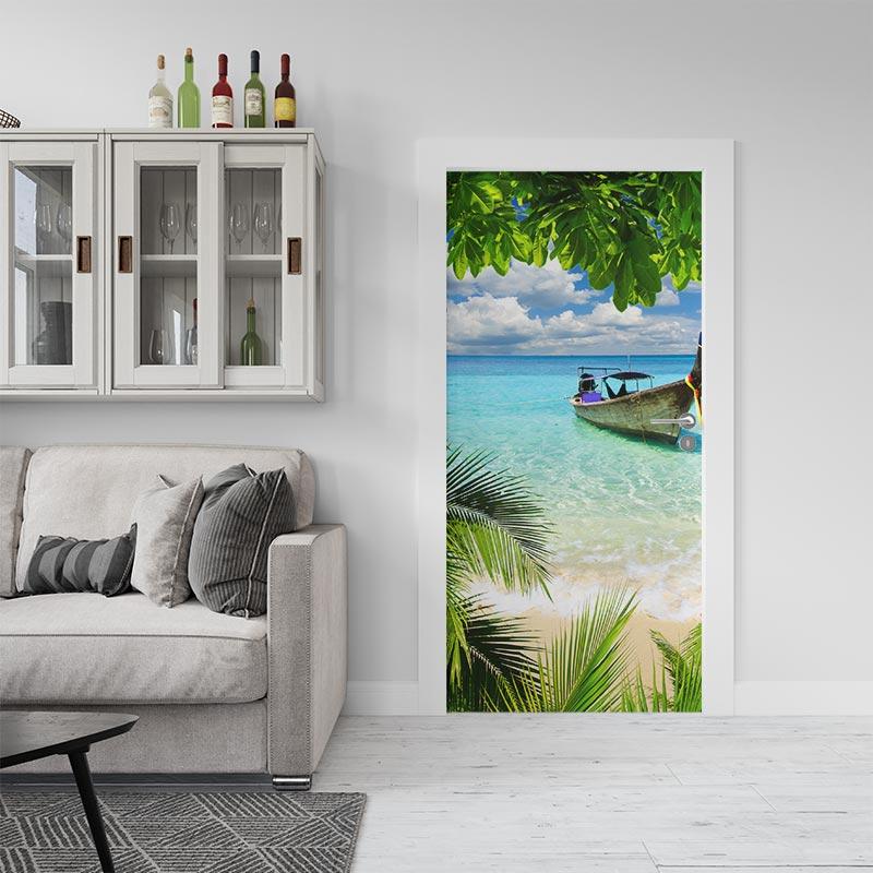 Deursticker Tropische baai