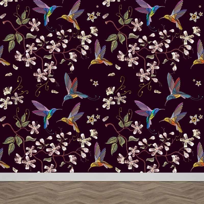 Fotobehang Botanische jungle patroon 5