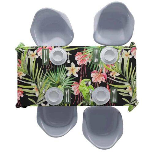 Tafelkleed Botanische jungle patroon 1