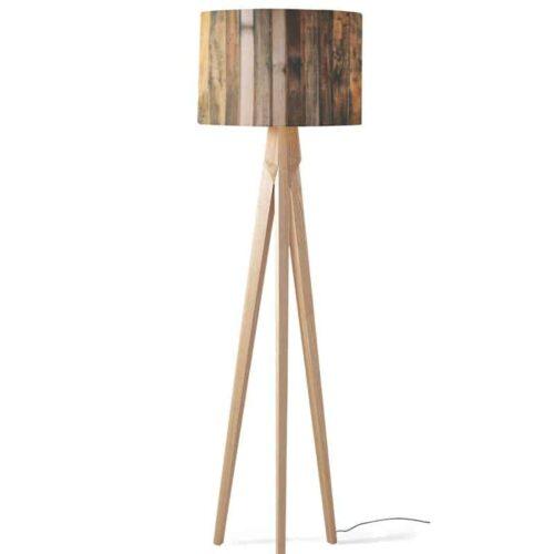 Lampenkap vintage houten planken