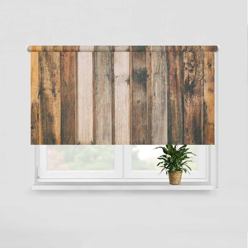 Rolgordijn Vintage houten planken