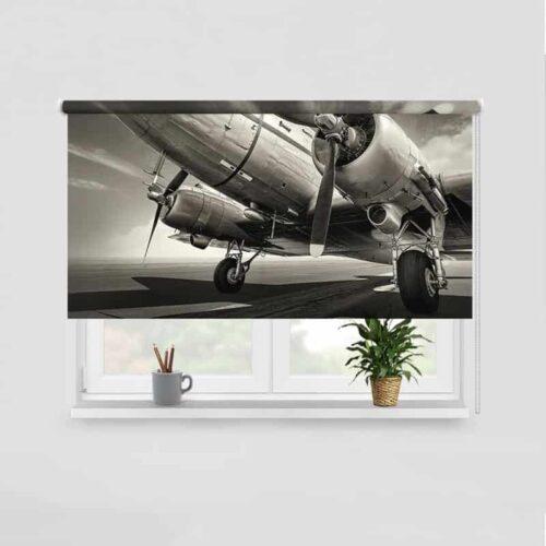Rolgordijn Propellor vliegtuig