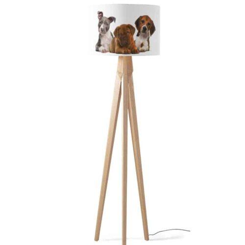 Lampenkap 3 puppys op een rij