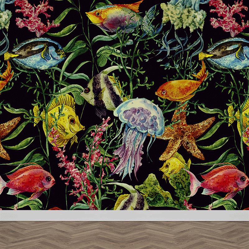 Fotobehang Tropische vissen patroon 2