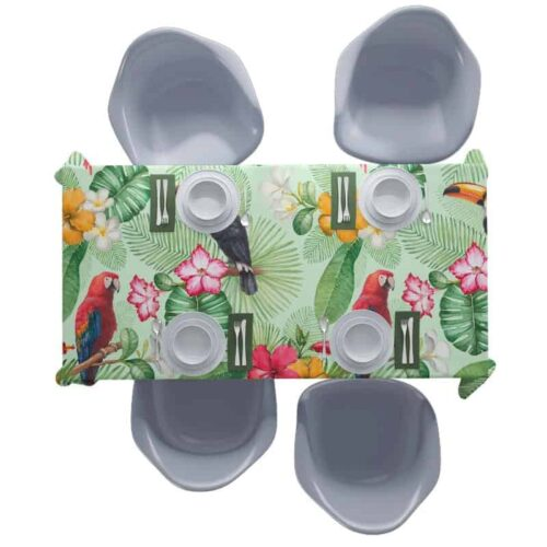 Tafelkleed Botanische jungle patroon 7