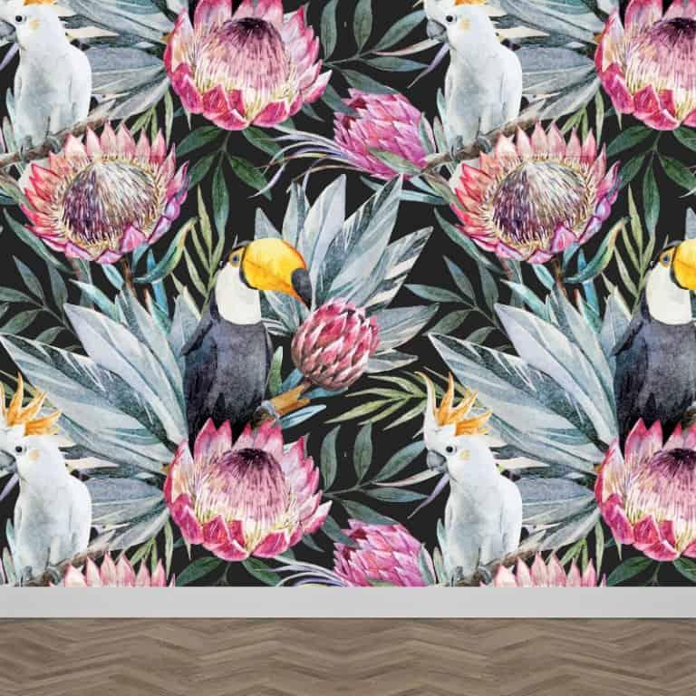 Fotobehang Botanische jungle patroon 4