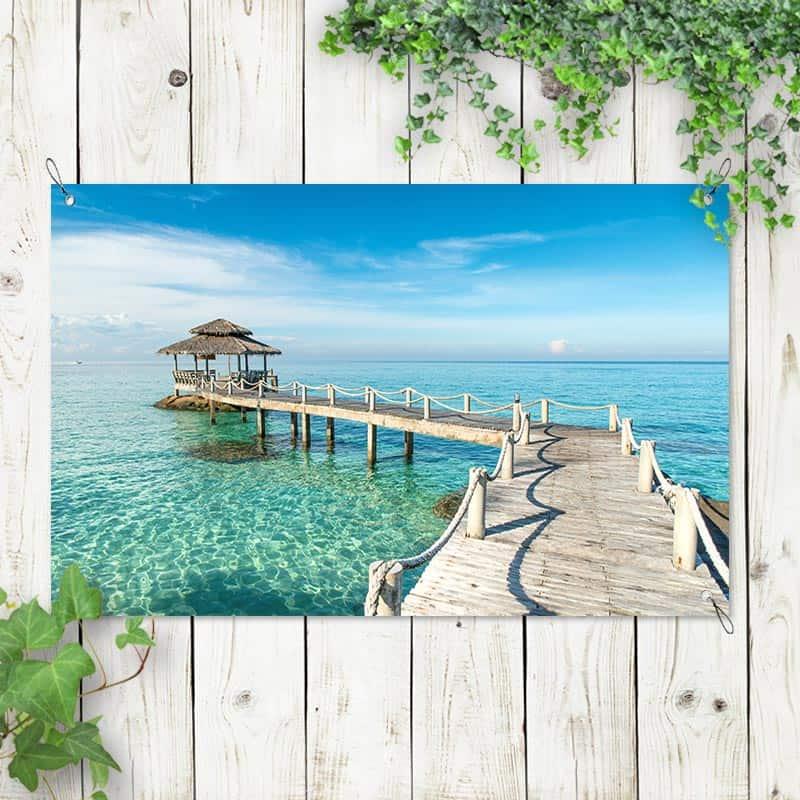 Tuinposter Van de seiger in zee
