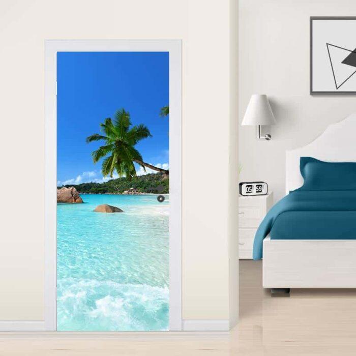 Deursticker Dromen op het strand