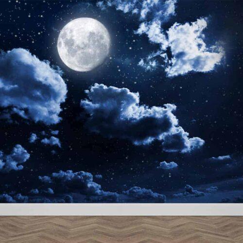 Fotobehang Maan en sterren