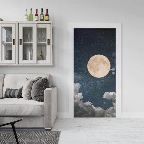 Deursticker In het maanlicht